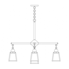 A-Line Four Light Plus Center Light Chandelier