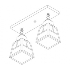 A-Line Two Light Ceiling Mount