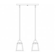 A-Line Two Light In-Line Chandelier