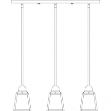 A-Line Three Light In-Light Chandelier