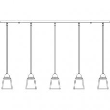 A-Line Five Light In-Light Chandelier