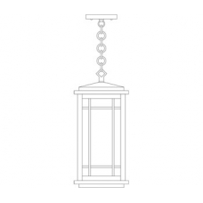 Avenue Long Body Pendant Eight Inch