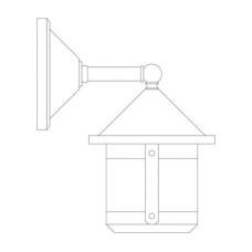 Berkeley Short Body Wall Mount Six Inch - Wet Rated