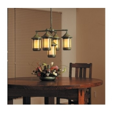 Berkeley Five Light Chandelier w Six Inch Lanterns