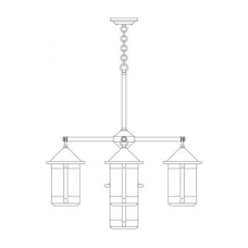 Berkeley Five Light Chandelier w Seven Inch Lanterns