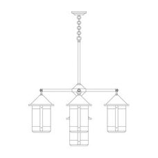 Berkeley Five Light Chandelier w Eight Inch Lanterns