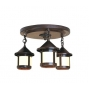 Berkeley Short Body Three Light Ceiling Mount