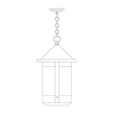 Berkeley Tall Long Body Pendant Fourteen Inch