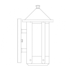 Berkeley Long Body Wall Sconce With Roof