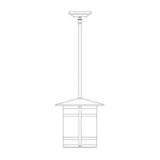 Berkeley Long Body Stem Hung Pendant Eleven Inch