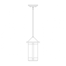 Berkeley Seven Inch Long Body Stem Hung Pendant