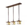 Carmel Three Light In-Line Chandelier Eight Inch