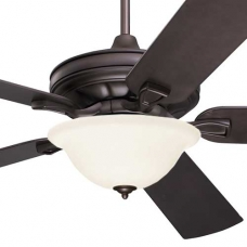 Craftsman Fan with Frosted Glass Light