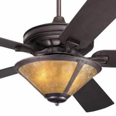 Craftsman Fan with Coppersmith Trumpet Light