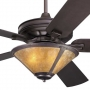 Craftsman Fan Almond Mica Coppersmith Light