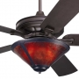 Craftsman Fan Amber Mica Coppersmith Light