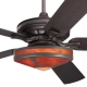 Craftsman Fan with Mica Glenaire Light