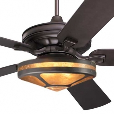 Craftsman Fan Large with Almond Mica Glenaire Light