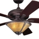 Mission Fan with Coppersmith Trumpet Light