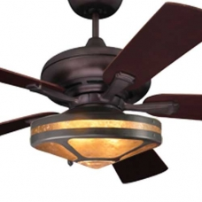 Mission Fan with Mica Glenaire Light