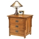 Antique Mission Three Drawer Night Stand