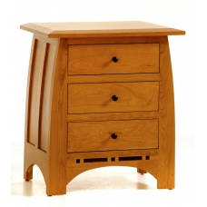 Vineyard Three Drawer Nightstand #528