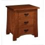 Crofter Mission Three-Drawer Night Stand