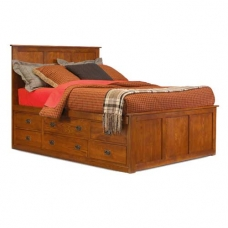 Kenwood Craftsman Pedestal Bed