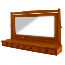 Aurora Grand Chest Mirror with Drawers