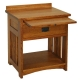 American Mission Bedside Table with Shelf