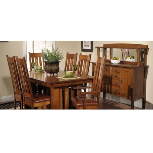Craftsman Dining Room Set, Craftsman Lighting Dining Room Table And Chairs