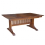 American Mission Double Pedestal Table
