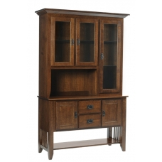 Mission Craftsman Buffet and China Hutch