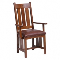 San Marino Tall Slat Back Arm Chair