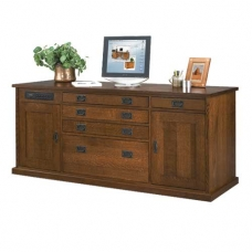 Mission Revival Office Credenza