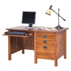 Mission Revival Pedestal Desk
