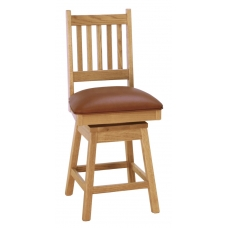 Spindle Back Mission Swivel Bar Stool