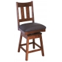 Craftsman Slat Back Swivel Bar Stool