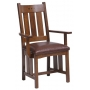 San Marino Low Slat Back Arm Chair