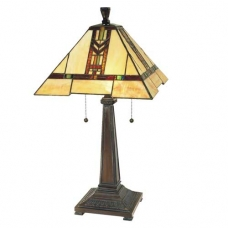 Chevron Red Mission Desk Lamp