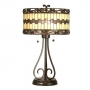 Retro Table Lamp with Wrought Iron and Wine Jewels