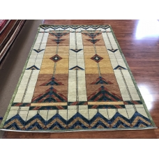 The Stained Glass Rug Gold Medium