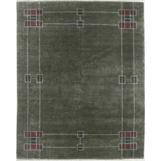 The Prairie Border Rug in Moss