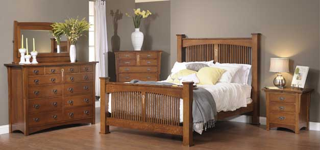 clearly amish craftsman bedroom collection